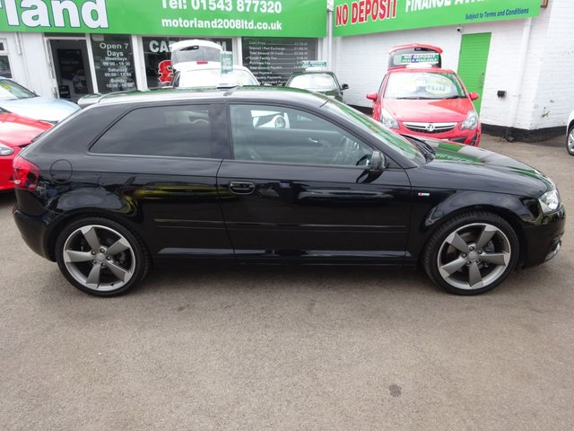 USED 2011 11 AUDI A3 2.0 TDI S LINE SE 3d 168 BHP CALL 01543 877320... 12 MONTHS MOT... 6 MONTHS WARRANTY... FULL SERVICE HISTORY