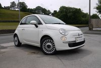 USED 2013 13 FIAT 500 1.2 LOUNGE 3d 69 BHP PANORAMIC GLASS ROOF