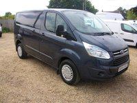 USED 2014 64 FORD TRANSIT CUSTOM 2.2 290 TREND LR P/V 1d 153 BHP AIR/CON *155BHP *FULL DEALER SERVICE HISTORY* TAIL GATE*