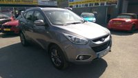 2014 HYUNDAI IX35 1.7 SE NAV CRDI 5d 114 BHP IN METALLIC GREY WITH SAT NAV AND ONLY 65000 MILES £8999.00
