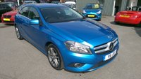 2013 MERCEDES-BENZ A CLASS 1.8 A180 CDI BLUEEFFICIENCY SPORT 5 DOOR AUTOMATIC 109 BHP IN METALLIC BLUE WITH 63000 MILES £10999.00