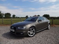 USED 2014 14 AUDI A4 2.0 TDI S LINE 4d 148 BHP ONLY 2 OWNERS FROM NEW WITH FULL AUDI SERVICE HISTORY