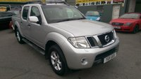 2011 NISSAN NAVARA 2.5 DCI TEKNA 4X4 DCB 4 DOOR 188 BHP MANUAL WITH A LEATHER INTERIOR AND NO VAT £9999.00