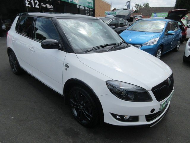 USED 2012 12 SKODA FABIA 1.2 MONTE CARLO 12V 5d 68 BHP CALL 01543 379066... 12 MONTHS MOT... 6 MONTHS WARRANTY... JUST ARRIVED