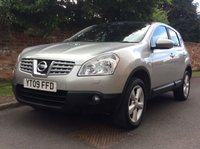 USED 2009 09 NISSAN QASHQAI 1.6 TEKNA 5d 113 BHP EXCELLENT SERVICE HISTORY 7 STAMPS,  MOT JULY 19, EXCELLENT CONDITION, LEATHER, ALLOYS, CLIMATE, CRUISE, FOGS, RAIN SENSING, RADIO CD, E/WINDOWS, R/LOCKING, FREE WARRANTY, FINANCE AVAILABLE, HPI CLEAR, PART EXCHANGE WELCOME,