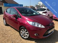 USED 2009 09 FORD FIESTA 1.4 ZETEC 5d AUTOMATIC 5 Door Petrol Automatic in Hot Magenta with Sensors