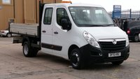 2015 VAUXHALL MOVANO 2.3 R3500 L3H1 CDTI CRC TIPPER DRW 1d 125 BHP  NO VAT TO ADD  1 OWNER IN HOUSE S/H 12 MONTHS WARRANTY COVER £9490.00