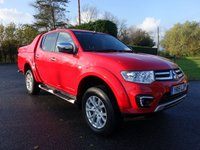 USED 2015 15 MITSUBISHI L200 BARBARIAN 4X4  DOUBLE CAB PICK UP AUTO 2.5 DI-D 175 BHP Direct From Leasing Company With Full Service History, Very Clean Example, Viewing Recommended!