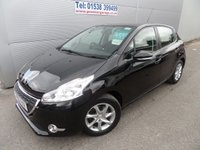 USED 2013 13 PEUGEOT 208 1.2 ACTIVE 5d 82 BHP 43000 MILES AIR CON, ALLOYS