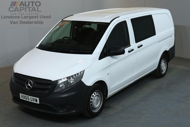 2015 65 MERCEDES-BENZ VITO 1.6 111 CDI 114 BHP LWB A/C 6 SEATER COMBI VAN ONE OWNER FROM NEW, SERVICE HISTORY