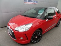 USED 2013 63 CITROEN DS3 1.6 DSTYLE PLUS 3d 120 BHP LOW MILEAGE, VERY CLEAN AIR CON