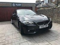 USED 2012 62 BMW 5 SERIES 2.0 520D M SPORT 4d AUTO 181 BHP CRACKING LOOKING M SPORT + FULL LEATHER + SAT NAV + BLUETOOTH + FSH + MOT'D JUNE 2019