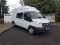 USED 2013 13 FORD TRANSIT 350 2.2 125 BHP 7 SEATER MESS UNIT**CHOOSE FROM 70 VANS**