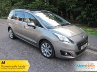 "USED 2014 64 PEUGEOT 5008 2.0 HDI ALLURE 5d 150 BHP Very Nice Lady Owned Seven Seat Peugeot 5008 With Satellite Navigation, Climate Control, Cruise Control, 18"" Alloy Wheels and Peugeot Service History"