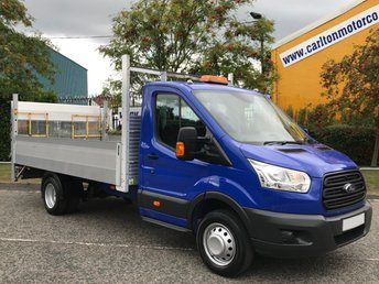 2015 FORD TRANSIT 350 TDCi 125 L4 DROPSIDE+ T/LIFT 14ft ALLOY BODY DRW FREE UK DELIVERY £12950.00