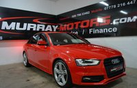 2013 AUDI A4 2.0 TDI S LINE BLACK EDITION 141 BHP *ONLY 26000 MILES* £13995.00