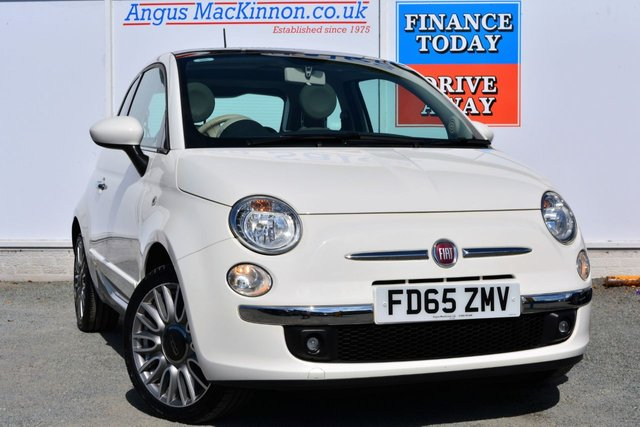 2015 65 FIAT 500 1.2 LOUNGE Lovely Cute 3dr Hatchback Looking Great in White