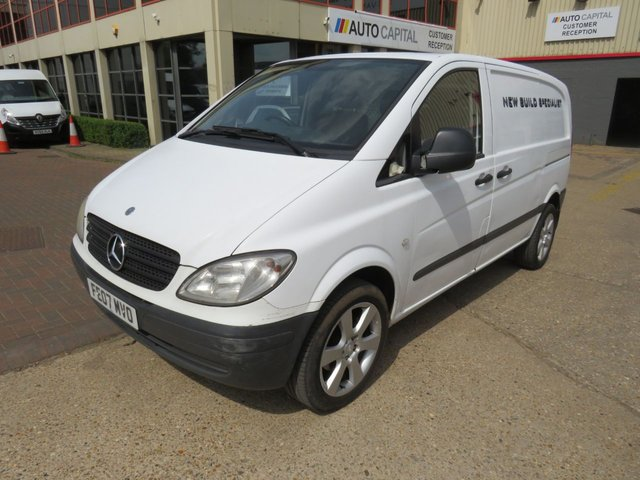 2007 07 MERCEDES-BENZ VITO 2.1 109 CDI 95 BHP SWB LOW ROOF NO VAT MOT UNTIL 4/06/2019