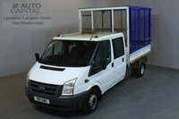 USED 2011 11 FORD TRANSIT 2.4 350 100 BHP L3 LWB TIPPER   ONE OWNER FROM NEW, SERVICE HISTORY