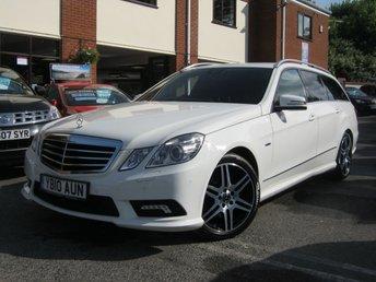 2010 MERCEDES-BENZ E CLASS 2.1 E220 CDI BLUEEFFICIENCY SPORT 5d AUTO 170 BHP £9988.00