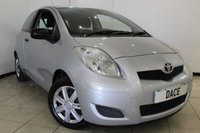 USED 2009 09 TOYOTA YARIS 1.0 T2 VVT-I 3DR 68 BHP AIR CONDITIONING + MULTI FUNCTION WHEEL + RADIO/CD + ELECTRIC WINDOWS + ELECTRIC MIRRORS