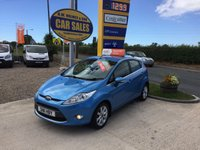 2011 FORD FIESTA ZETEC 1.4 5 DOOR IN VISION BLUE **FULL FORD SERVICE HISTORY** £5495.00