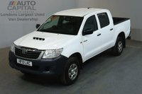 USED 2013 13 TOYOTA HI-LUX 2.5 HL2 4X4 D-4D DCB 4d 142 BHP AIR CON DIESEL MANUAL LIGHT UTILITY PICK UP AIR CONDITIONING / BARGAIN PRICE