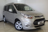 USED 2015 64 FORD TOURNEO CONNECT 1.6 TITANIUM TDCI 5DR 94 BHP FORD SERVICE HISTORY + PANORAMIC ROOF + BLUETOOTH + CRUISE CONTROL + MULTI FUNCTION WHEEL + PARKING SENSOR + 16 INCH ALLOY WHEELS
