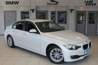 USED 2014 14 BMW 3 SERIES 2.0 320D EFFICIENTDYNAMICS BUSINESS 4d 161 BHP FULL BLACK LEATHER SEATS + FULL SERVICE HISTORY + SAT NAV + BLUETOOTH + £20 ROAD TAX + DAB RADIO + HEATED FRONT SEATS + REAR PARKING SENSORS + CRUISE CONTROL