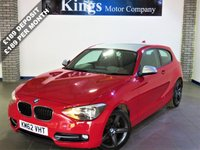 USED 2012 62 BMW 1 SERIES 2.0 116D SPORT 3dr New Shape, £30 Tax , FSH , 62 MPG, Met Silver Roof & Mirrors