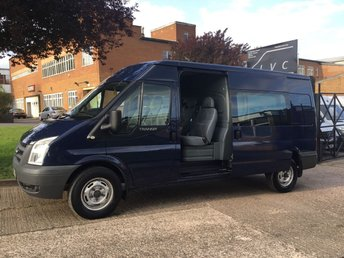 2011 FORD TRANSIT 2.4TDCI T350 LWB SEMI HIGH ROOF 115BHP. CREW VAN 6 SEATS. £5990.00