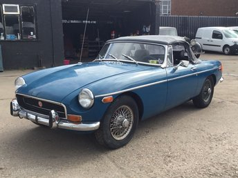 1972 MG MGB 1.8 ROADSTER CHROME BUMPER LHD. MOT TAX EXEMPT MODEL £5995.00