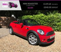 USED 2015 15 MINI ROADSTER 1.6 COOPER 2d 120 BHP 1 LADY OWNER FULL MINI SERVICE HEATED SEATS OPENAIR MEASURING DIAL