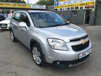 2012 CHEVROLET ORLANDO 2.0 LTZ VCDI 5 DOOR AUTOMATIC 163 BHP IN SILVER WITH ONLY 38000 MILES £7799.00