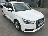 2015 AUDI A1 1.0 SPORTBACK TFSI SE 5 DOOR  93 BHP IN WHITE WITH ONLY 19000 MILES £11699.00