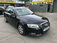 2010 AUDI A6 2.0 TDI E SE 5 DOOR ESTATE 134 BHP IN BLACK WITH BLACK LEATHER INTERIOR AND SAT NAV AND ONLY 55000 MILES £8499.00