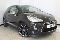 USED 2011 11 CITROEN DS3 1.6 HDI BLACK AND WHITE 3d 90 BHP HALF LEATHER SEATS + CRUISE CONTROL + AIR CONDITIONING + RADIO/CD + 17 INCH ALLOY WHEELS