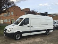 USED 2013 63 MERCEDES-BENZ SPRINTER 2.1 313CDI LWB HIGH ROOF 130BHP. VERY LOW 55,000 MILES. 1 OWNER FSH. LOW MILES. 0% DEPOSIT FINANCE. PX WELCOME