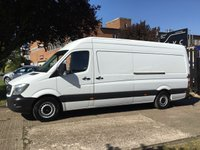 USED 2015 15 MERCEDES-BENZ SPRINTER 2.1 313CDI LWB HIGH ROOF 130BHP NEW SHAPE. 1 OWNER. FSH CHOICE OF 50 SPRINTERS. FINANCE. PX
