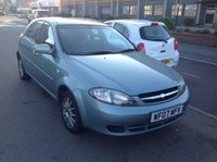 USED 2007 07 CHEVROLET LACETTI 1.6 SX 5d 108 BHP Part exchange to clear, very clean, long mot.