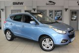 "USED 2013 62 HYUNDAI IX35 1.7 PREMIUM CRDI 5d 114 BHP HALF LEATHER/CLOTH SEATS + FULL SERVICE HISTORY + PANORAMIC ROOF + HEATED FRONT SEATS + BLUETOOTH + CRUISE CONTROL + AIR CONDITIONING + 17"" ALLOYS"