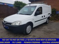 2005 VAUXHALL COMBO 1700 DI WITH NEW MOT AND NO VAT TO PAY £2295.00