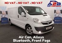 USED 2011 61 VAUXHALL VIVARO 2.0 2900 CDTI SPORTIVE 115 BHP Long Wheel Base, Bluetooth Connectivity, Air Con, 6 Speed Gearbox Long Wheel Base, Air Con, Bluetooth