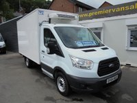 2014 FORD TRANSIT  NEW SHAPE MODEL TRANSIT  2.2 TDCI, 350 FRIDGE  /FREEZER DOUBLE COOLER  BOX VAN, OVERNIGHT STANDBY BLUETOOTH, ELECTRIC  WINDOWS ONE COMPANY OWNER EX LEX LEASE LOOKS AND DRIVES AS NEW  £8500.00