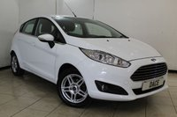 USED 2013 63 FORD FIESTA 1.2 ZETEC 5DR 81 BHP SERVICE HISTORY + BLUETOOTH + MULTI FUNCTION WHEEL + AIR CONDITIONING + RADIO/CD + 15 INCH ALLOY WHEELS