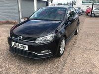 USED 2014 64 VOLKSWAGEN POLO 1.0 SE 3d 74 BHP 1 OWNER-FULL DEALER HISTORY-£20 PER YEAR ROAD TAX-BLUETOOTH-DAB RADIO-ALLOY WHEELS