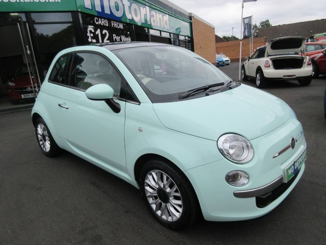 USED 2014 14 FIAT 500 1.2 LOUNGE 3d 69 BHP **FULL SERVICE HISTORY** NO DEPOSIT DEALS 01543 379066