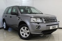 USED 2013 63 LAND ROVER FREELANDER 2 2.2 SD4 GS 5DR AUTOMATIC 190 BHP LAND ROVER SERVICE HISTORY + LEATHER SEATS + BLUETOOTH + PARKING SENSOR + CRUISE CONTROL + MULTI FUNCTION WHEEL + CLIMATE CONTROL + 17 INCH ALLOY WHEELS