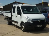 2015 VAUXHALL MOVANO 2.3CDTi  R3500 L3 H1 Double Cab TIPPER  125 BHP 6 SEATER AIRCON SATNAV AND MUCH MORE  £14495.00