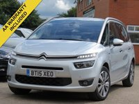 USED 2015 15 CITROEN C4 GRAND PICASSO 1.6 E-HDI EXCLUSIVE PLUS 5d 113 BHP PANORAMIC ROOF, SATELLITE NAVIGATION + REVERSING CAMERA